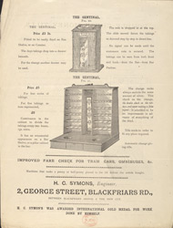 Advert For H. C. Symons' Tills reverse
